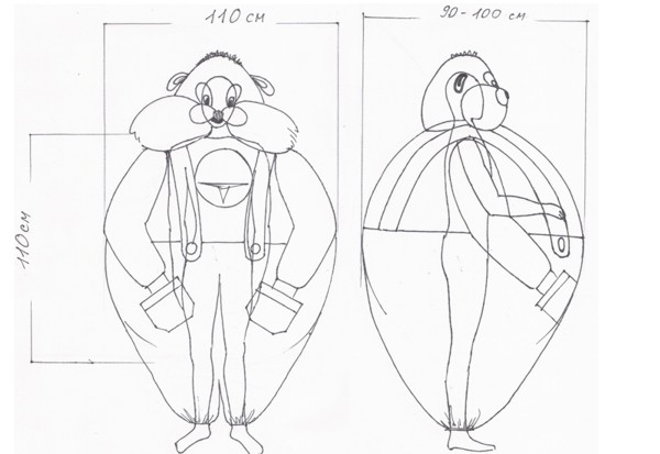 Как сделать ростовую куклу своими руками мастер